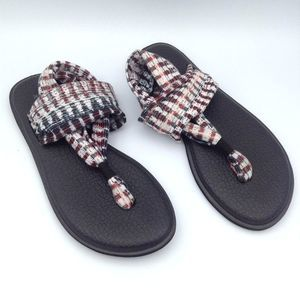 Sanuk Yoga Sling 2 White Icicle Ikat Sandals